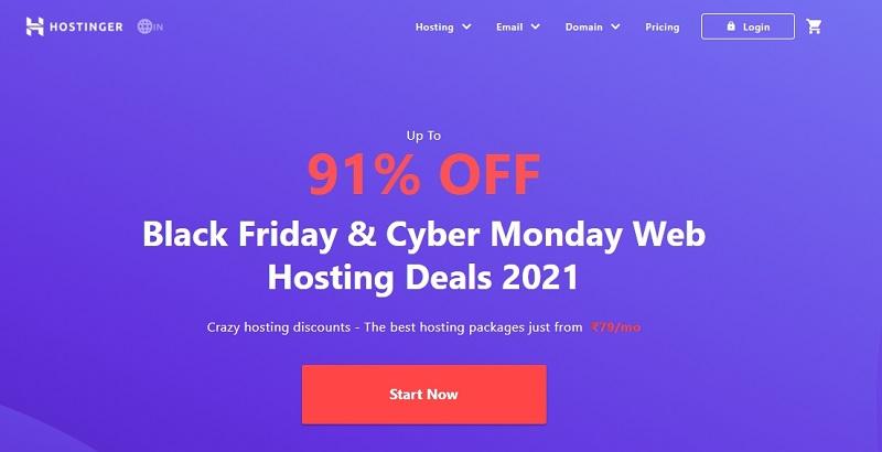 hostinger home page