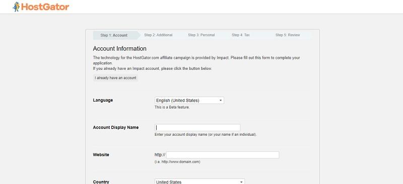 apply on hostgator affiliate program