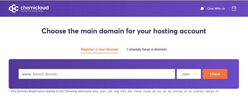 ChemiCloud domain registration