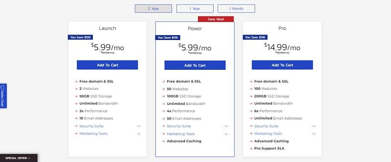 inmotion shared hosting plan