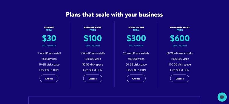 kinsta managed wordpress hosting price