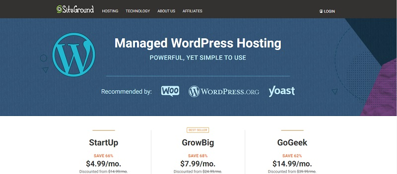 site ground company details for managed wordpress hosting